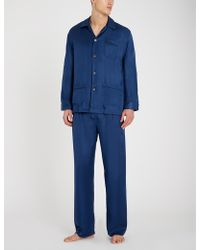 Derek Rose - Woburn Silk-satin Pyjama Set - Lyst