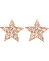 The Alkemistry - Julianna Himiko 14ct Rose-gold And Diamond Earrings - Lyst