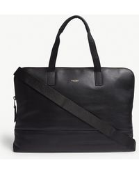 Knomo - Mayfair Luxe Leather Briefcase - Lyst
