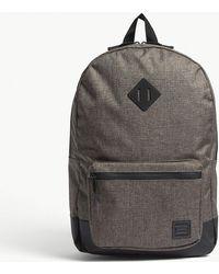 Herschel Supply Co. - . Canteen Crosshatch Dark Grey And Black Ruskin Backpack - Lyst