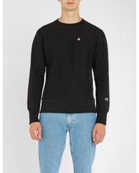 Champion - Logo-embroidered Cotton-jersey Sweatshirt - Lyst