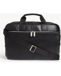 Knomo Amesbury Leather Briefcase - Black