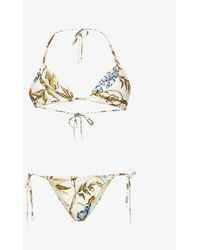Zimmermann Aliane Floral-print Bikini - Multicolor