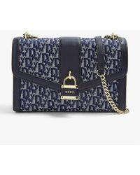 DKNY Ella Logo-design Denim Shoulder Bag - Blue
