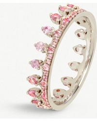 Annoushka - Crown 18ct White Gold And Pink Sapphire Ring - Lyst