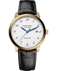 Ulysse Nardin 8152-111-2/5gf Classico Rose-gold Watch - Black