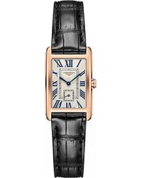 Longines L5.255.8.71.0 Dolcevita Rose Gold And Alligator Watch - Metallic