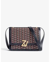 Zadig & Voltaire Zv Leather And Canvas Cross-body Bag - Multicolor