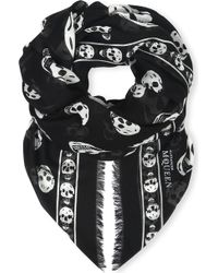 Alexander McQueen Skull-print Modal And Cashmere-blend Pashmina - Black