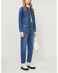 Claudie Pierlot Cropped Denim Jacket - Blue