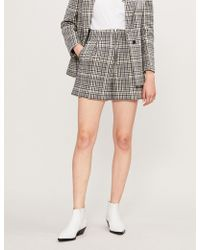 Sandro - Mauro Checked Wool-blend Shorts - Lyst
