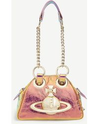 Vivienne Westwood Yasmine Iridescent Leather Shoulder Bag - Metallic