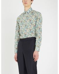 Paul Smith - Floral-print Tailored-fit Cotton Shirt - Lyst
