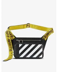 Off-White c/o Virgil Abloh Striped Leather Body-bag - Black