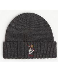 4fbc64d0325 Polo Ralph Lauren Ski Bear Wool   Cashmere Beanie in Gray for Men - Lyst
