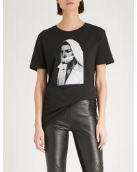 A.F.Vandevorst Nun Cotton-jersey T-shirt - Black