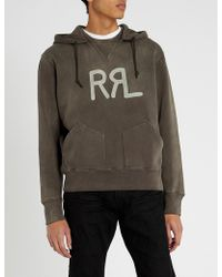 RRL - Logo-print Cotton-blend Hoody - Lyst
