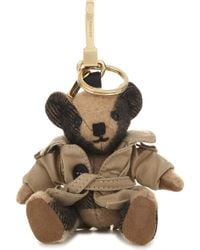Burberry - Thomas Bear Check Cashmere Charm With Coat 12cm - Lyst