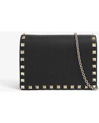 Valentino Garavani Rockstud Leather Cross-body Bag - Black