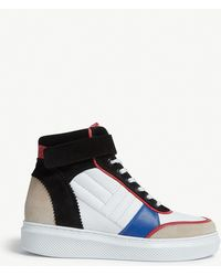 Claudie Pierlot Leather And Suede High-top Sneakers - Blue