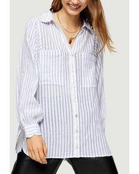 TOPSHOP Blue Stripe Casual Shirt