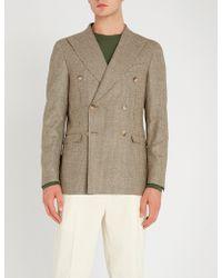 Corneliani - Houndstooth-patterned Regular-fit Wool Jacket - Lyst