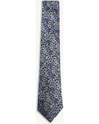 Duchamp - Floral Silk Tie - Lyst