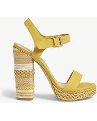 ALDO - Huglag Leather Platform Sandals - Lyst