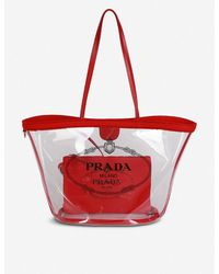 Prada Women's Black Plexiglass Tote Bag