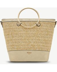 Dune - Gold Woven Diggyy Tote Bag - Lyst