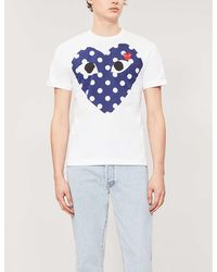 COMME DES GARÇONS PLAY Heart-print Cotton-jersey T-shirt - White