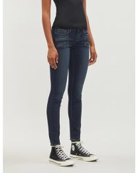 PAIGE - Edgemont Skinny Mid-rise Jeans - Lyst