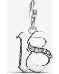 Thomas Sabo - Vintage Lucky Number 18 Sterling Silver Charm - Lyst