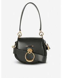 Chloé Tess Leather And Suede Cross-body Bag - Black