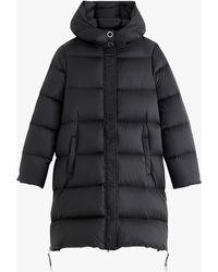 Claudie Pierlot Giovana Padded Longline Shell Jacket - Black