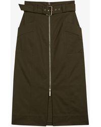 Ted Baker - Janiis High-waist Stretch-cotton Midi Skirt - Lyst