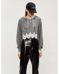 The Kooples - Lace-trimmed Jersey Hoody - Lyst
