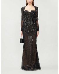 Zuhair Murad Alicante Sweetheart-neckline Embellished Gown - Black