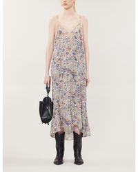 Zadig & Voltaire Revel Graphic-print Woven Maxi Dress - Multicolour