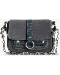Zadig & Voltaire Kate Studded Suede Cross-body Bag - Black