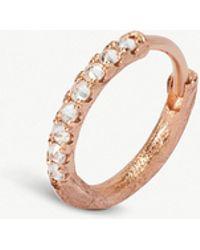 Annoushka - Dusty Diamonds 18ct Rose-gold Diamond Hoop Earrings - Lyst