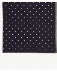 Eleventy - Polka Dot Pattern Wool And Cotton Pocket Square - Lyst