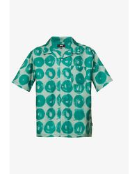 Stussy Hand Drawn Dot Crepe Shirt - Green