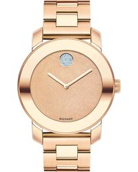 Movado - 3600335 Bold Rose-gold Ion-plated Stainless Steel Watch - Lyst