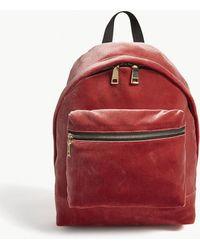 Sandro Avril Quilted Velvet Backpack - Pink