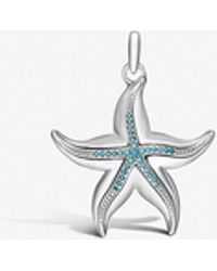 Thomas Sabo - Starfish Sterling Silver And Turquoise Pendant - Lyst
