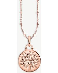 Thomas Sabo - Tree Of Love Locket 18ct Rose Gold-plated Necklace - Lyst