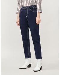 Claudie Pierlot Pistou Straight High-rise Jeans - Blue
