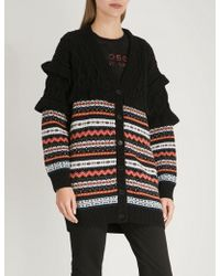 Philosophy Di Lorenzo Serafini - Ruffled Knitted Cardigan - Lyst
