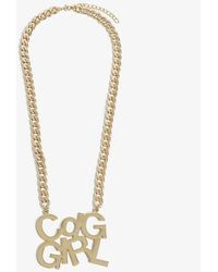 Comme des Garçons 'CDGGIRL' Pendant Necklace - Metallic